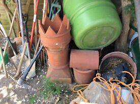 Bishop clay chimney pot