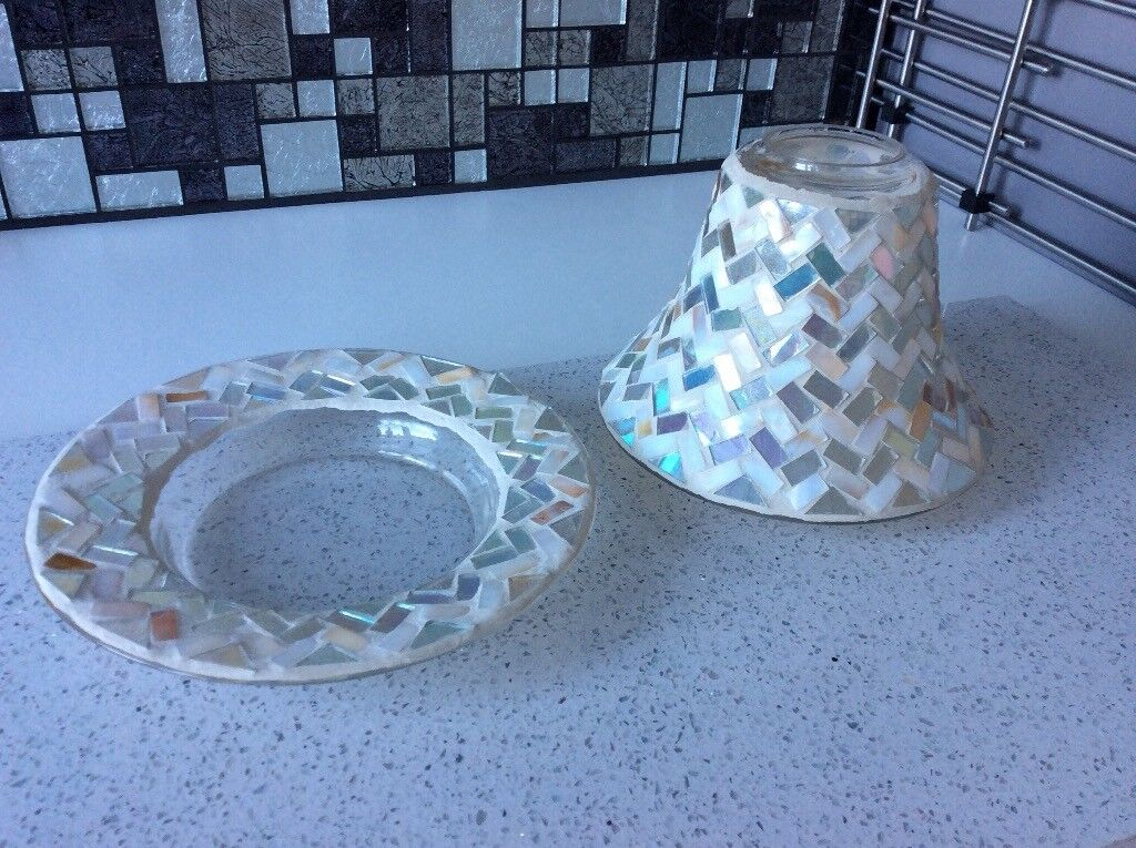 LARGE YANKEE CANDLE SHADE AND PLATE