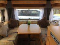 Knauss Sudwind 5 berth top of the range caravan