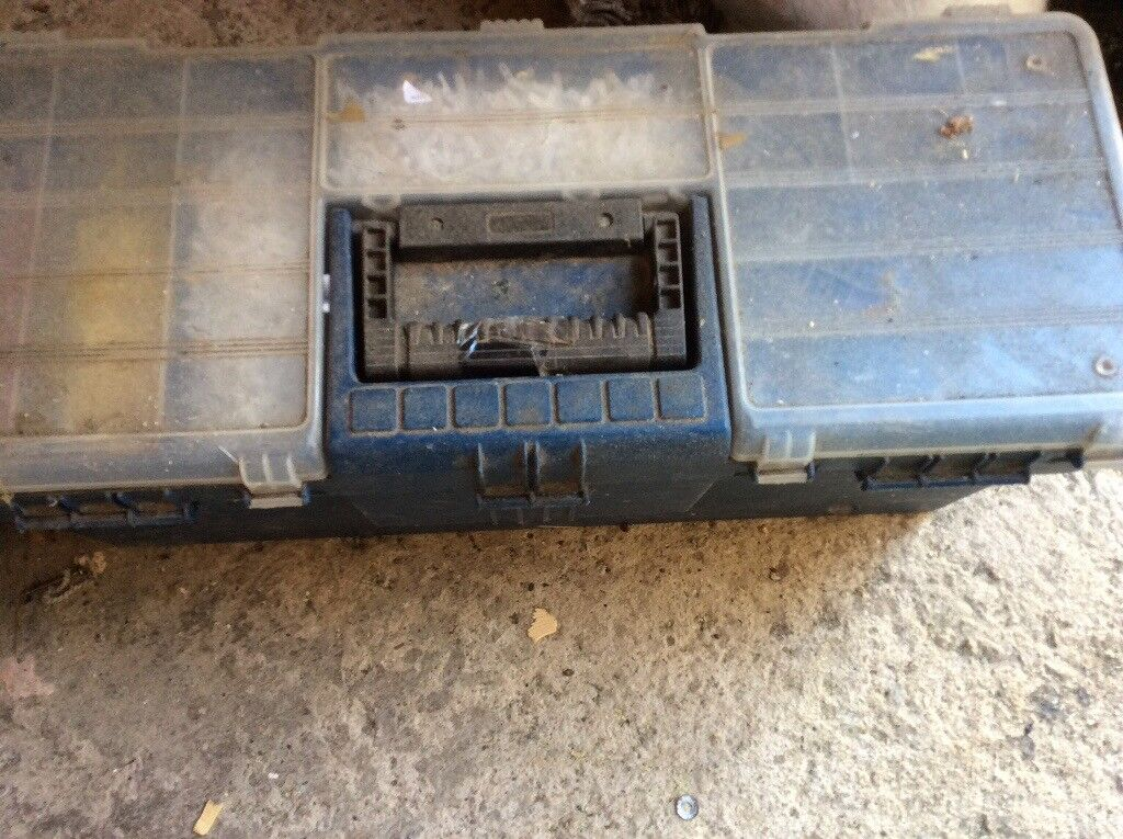 Large tool box with tools