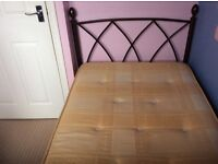 Beautiful metal single bed, very good condition.