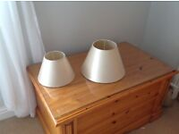 2 gold silky lampshades will seperate and will post