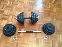 Bodymax Deluxe 40kg Rubber Dumbbell Set from powerhouse-fitness