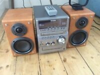 aiwa compact disk stereo system xr-em70