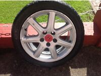 Honda Civic 2007 model 17 inch type r alloys with tyres