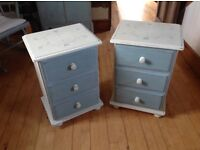Pretty pair of bedside cabinets