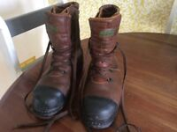 STIHL standard klasse1 Chainsaw protective boots .Size 11. All leather. Worn once only.