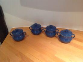 Le Creuset small ceramic serving pots