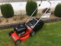 Rover Thoroughbred petrol push-drive lawnmower. 19inch cut. Briggs&Stratton 4.5hp Quantum power.