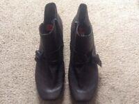 Rieker ankle boots - brand new - never been worn - size 40 dark brown