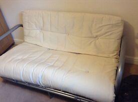 Metal framed sofa bed
