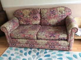 Double sofa bed with bed linen