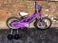 """Girls purple specialized 'hotrock' 16"""" bike"""