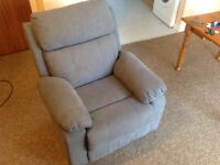 JUNE FABRIC MANUAL RECLINER CHAIR