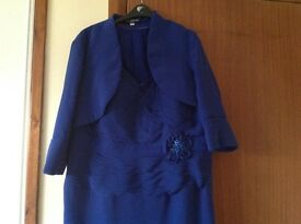 Royal blue wedding outfit