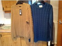 BRAND NEW WITH TAGS 2 X Large jumpers. £5 EACH or BOTH for £8 !!!! BARGAIN.