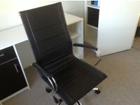Black and white desk and computer/desk chair for sale