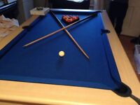 BEAUTIFUL POOL TABLE IN EXCELLENT SOLID CONDITION- #SLATE TOP# must be seen