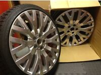 19 inch cosworth wheels brand new in silver