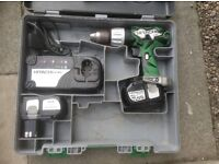 Hitachi DV 18DL Cordless Impact Drill Drive.