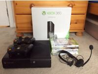 Xbox 360 E Console 250gb with 2 controllers, games and headset - excellent condition