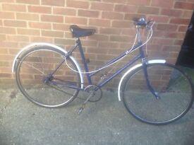 Vintage 1958 Ladies Phillips Traditional Town Bike 3 sp