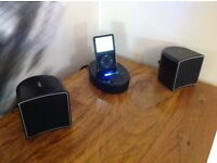 Jamo i300 iPod dock and speaker system (Piano black)