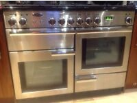 Ranagemaster Professional + 110 Dual Fuel Range Cooker, Stainless Steel