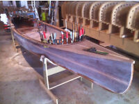 Professionally Built 16' Canadian Strip Planked Prospector Canoe