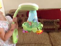 Fisher price light up cot mobile