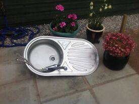 Compact Stainless Steel Sink Unit