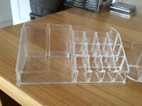 Glam Cosmetic Organisers x 2 Clear Perspex