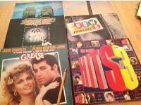 Vinyl lp records compilation albums Saturday Night Fever, Grease etc