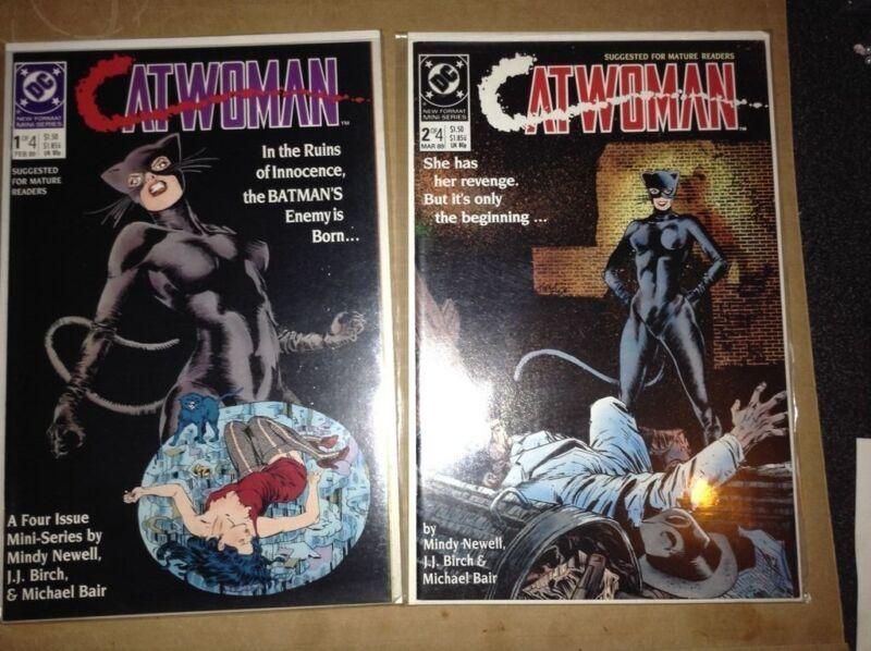 Catwoman #1- #4 DC comic lot 1989-NM