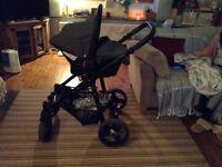 Venicci Mini 3 in 1 Travel System - Denim Grey / Black Reduced!!! £200