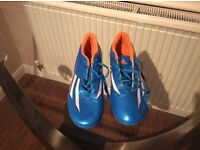 Adidas blue and orange football boots