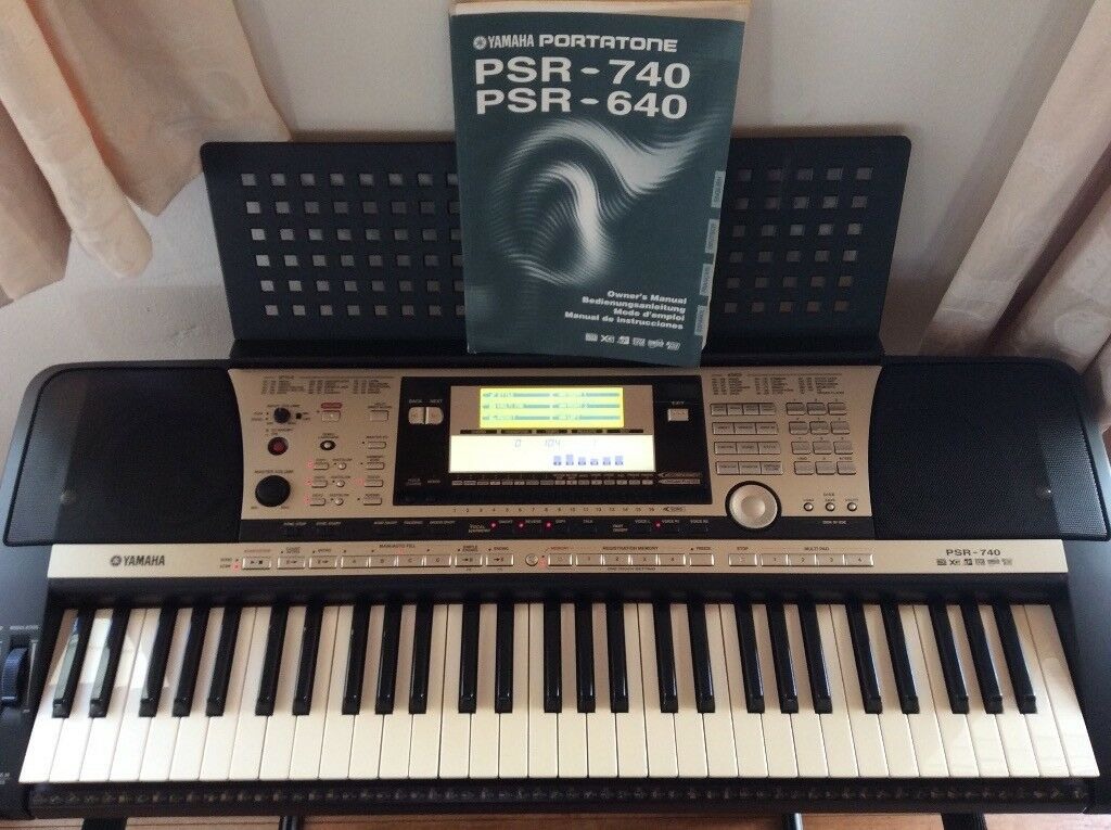 Yamaha Psr 740 With Music Stand Amp User Manual In Irvine