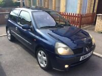CLIO 1.1.C.C. LOW MILES 64K WITH SERVICE HISTORY MOT FEBRUARY 2019 £595