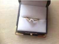 Engagement and eternity ring