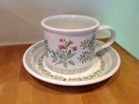 """National Trust Portmeirion """"Garden herbs"""" cup & saucer"""