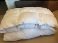 Super Kingsize feather duvet with cover