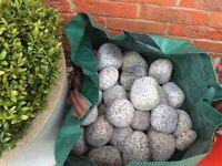 1 Large bag lovely Cornish Silver Garden Cobbles