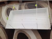 Indoor rabbit hutch & play pen & sawdust - check individual prices