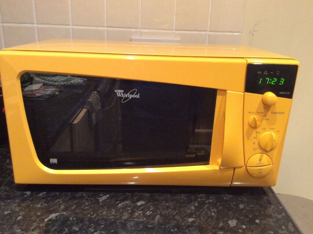 Yellow Microwave Oven ~ Whirlpool yellow microwave with grill in bideford devon
