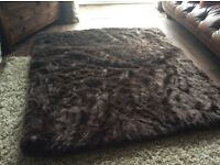 Extra large chocolate brown bed / sofa throw