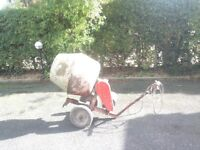 Electric cement mixer on wheels in working order, £100