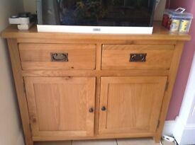 Oak sideboard unit