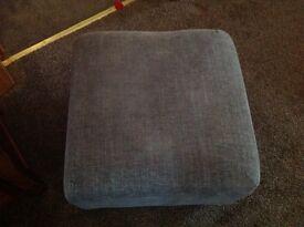 Grey tweed square footstool