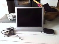 """20"""" SHARP AQUOS LCD TV WITH FREEVIEW BOX"""