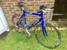 """Gryphon Blue Mens Bike 23"""" frame 21 gears immaculate condition, include new gel seat, stored inside"""